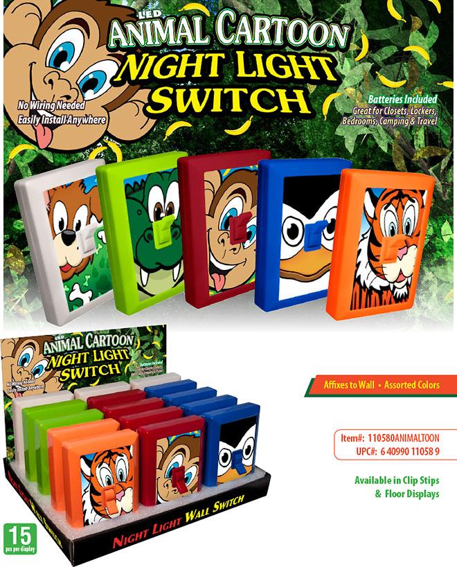 Phenomenal Animal Cartoon Night Light Switch Wiring Cloud Scatahouseofspiritnl