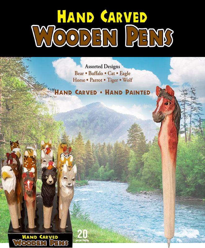 Wood Carved Animal Pens
