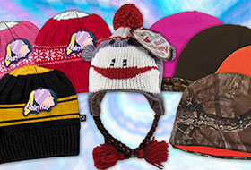 Apparel: HoleyHat, Sock Monkey Hat, Reversible Camo Hat