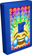 Emoji Head 6 LED Night Light Wall Switch of Joy with Tears