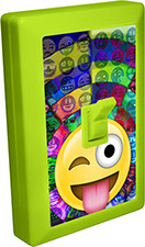Emoji 6 LED Night Light Wall Switch of Tongue Stuck Out with Winking Eye