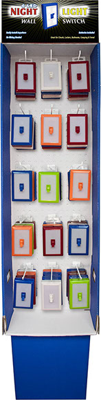 Night light switch 6 led night light wall switch 60 pc floor displaypower wing item 110580 mozeypictures Choice Image