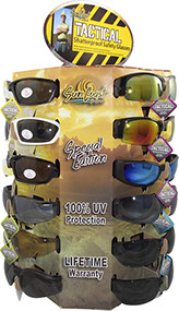 Tactical Safety Glasses 24 pc Display, Shatterproof