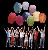 Sky Lantern Group/Crowd - Available in 36 & 60 pc Counter & Floor Displays, Item 129651