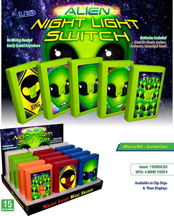 Alien Night Light Switch
